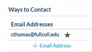 Canvas list of email addresses